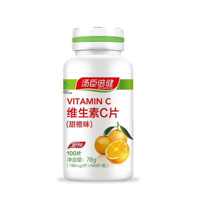 湯臣倍健維生素C片(甜橙味)100片